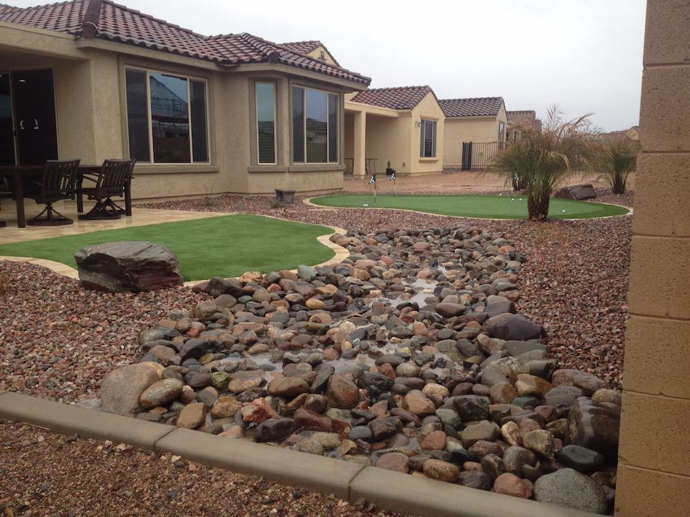 Residential landscaping phoenix az sunburst landscaping for Residential landscaping