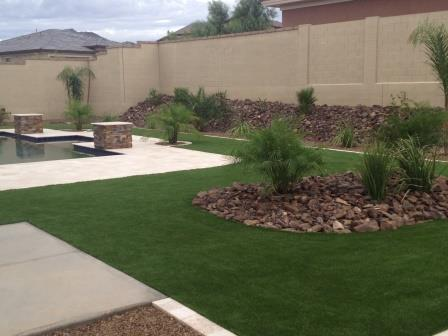 artificial turf in a backyard in phoenix