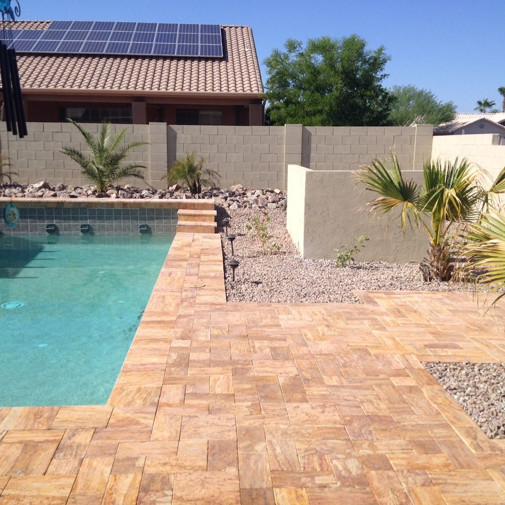 Hardscaping (Travertine)