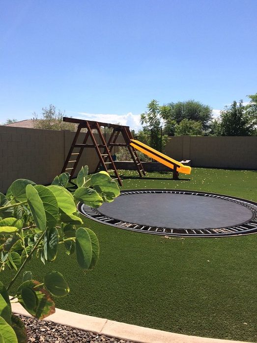 Artificial grass play yards